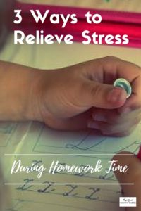 how to decrease homework stress