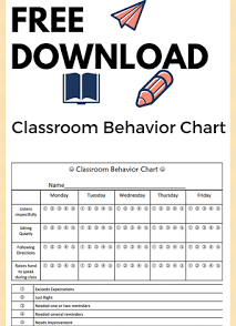 best classroom behavior chart