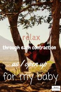 birth affirmations to help relax through contractions