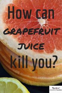 grapefruit juice and medication